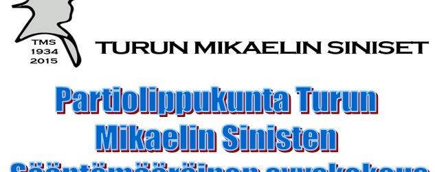 Partiolippukunta Turun Mikaelin Sinisten sääntömääräinen syyskokous
